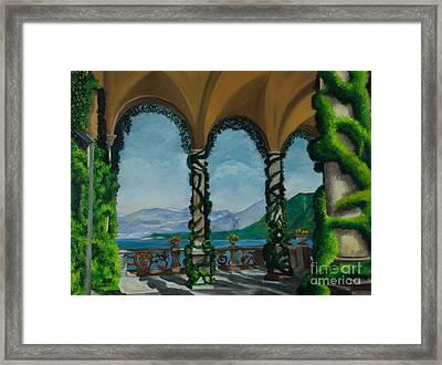 Under The Arches At Villa Balvianella Framed Print by Charlotte Blanchard
