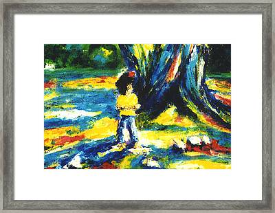 Under The Banyan Tree#201 Framed Print by Donald k Hall