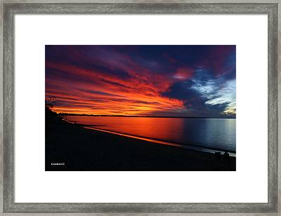Under The Blood Red Sky Framed Print