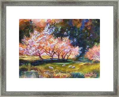 Under The Blossom Trees Sold Framed Print by Therese Fowler-Bailey