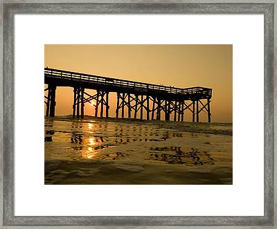 Under The Boardwalk 3 Framed Print by Tom Rickborn