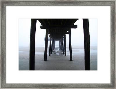 Under The Boardwalk Framed Print by Bill Cannon