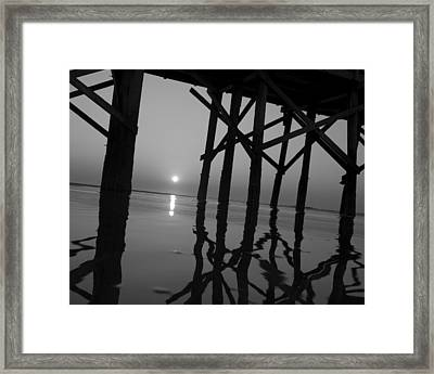 Under The Boardwalk Bw1 Framed Print by Tom Rickborn