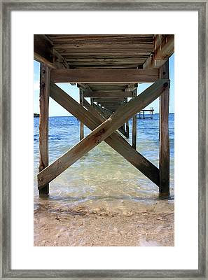 Under The Boardwalk Framed Print by Mary Haber
