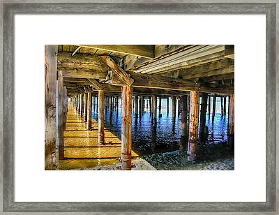 Under The Boardwalk Framed Print