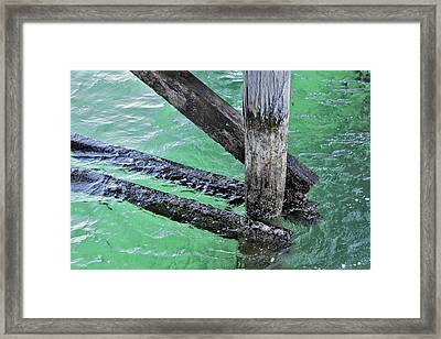 Framed Print featuring the photograph Under The Boardwalk by Stephen Mitchell