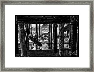 Under The Boardwalk Framed Print by Tommy Anderson