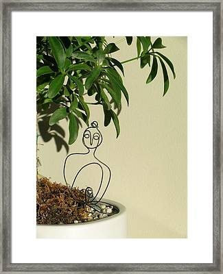 Under The Bodhi Tree Framed Print by Live Wire Spirit