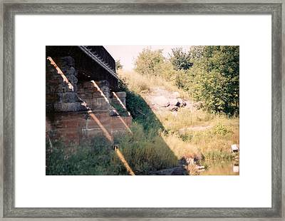 Under The Bridge - Photograph Framed Print by Jackie Mueller-Jones