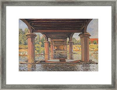 Under The Bridge At Hampton Court Framed Print
