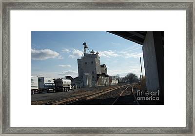 Under The Bridge At The Ol Mill   # Framed Print by Rob Luzier