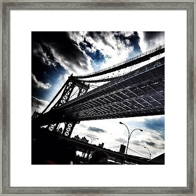 Under The Bridge Framed Print by Christopher Leon