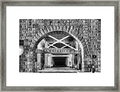 Under The Bridge I Framed Print