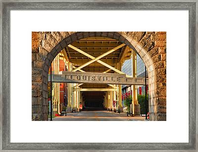 Under The Bridge II Framed Print