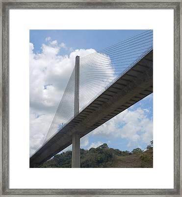 Under The Bridge Through Panama Framed Print