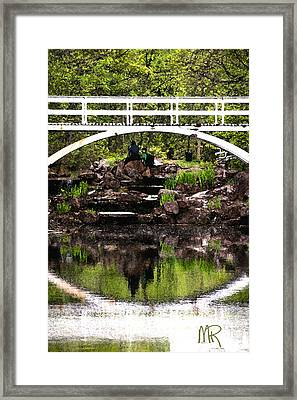 Under The Bridge Framed Print by Martin Rochefort