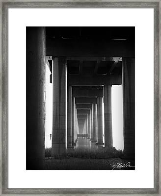 Under The Bridge Framed Print by Melissa Wyatt