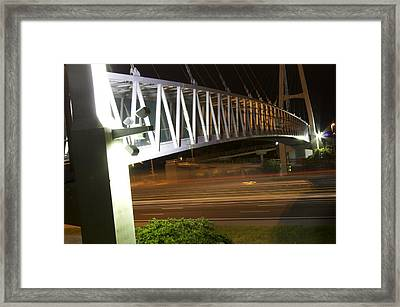 Framed Print featuring the photograph Under The Bridge by Michael Albright