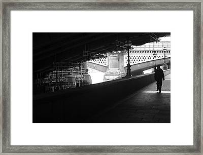 Under The Bridgewalk Framed Print by Jez C Self