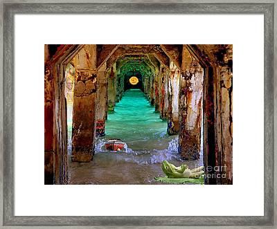 Under The Broadwalk Framed Print by Mojo Mendiola