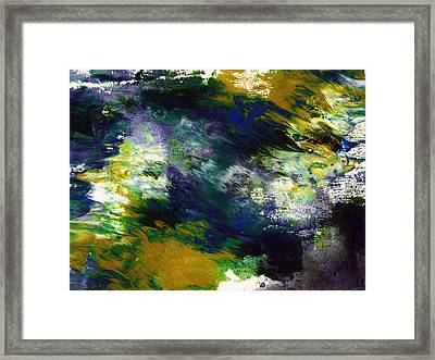 Under The Canopy 2- Abstract Art By Linda Woods Framed Print