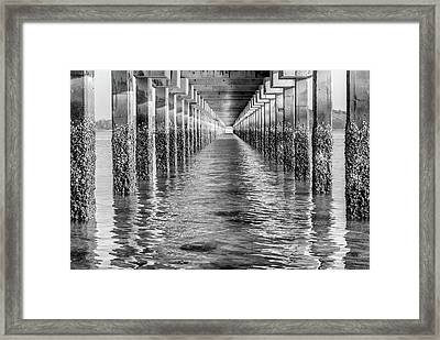 Under The Dock - Thailand Framed Print