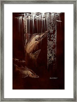Under The Docklight 2 Framed Print by Kevin Brant