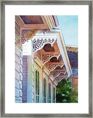 Under The Eaves Framed Print by Sue Zimmermann