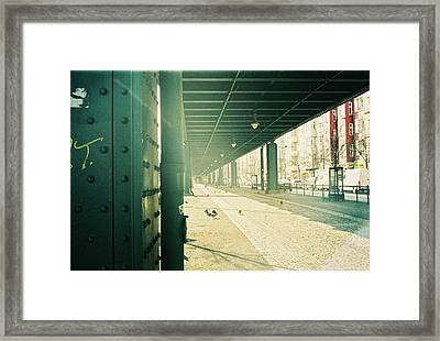 Under The Elevated Railway Framed Print