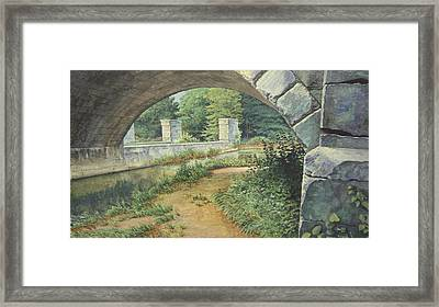 Under The Erie Canal Framed Print by Stephen Bluto
