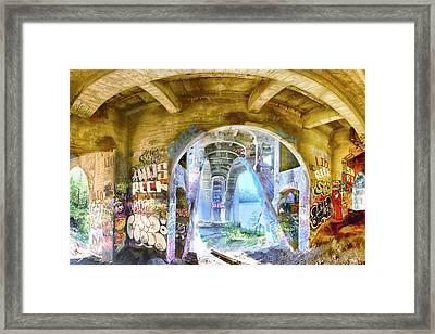 Under The Ford Bridge Framed Print by Craig Voth