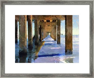 Under The Galvaston Pier - Limited Edition Framed Print