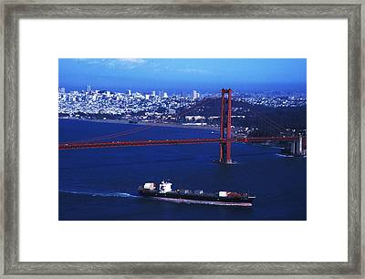 Framed Print featuring the photograph Under The Golden Gate by Carl Purcell