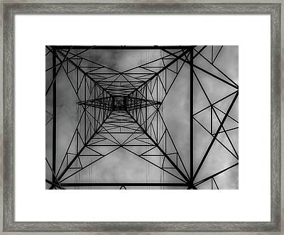 Under The Grid Framed Print