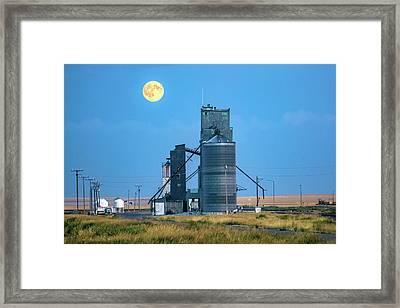 Under The Harvest Moon Framed Print