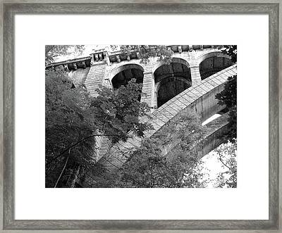 Framed Print featuring the photograph Under The Henry Avenue Brudge by Bill Cannon