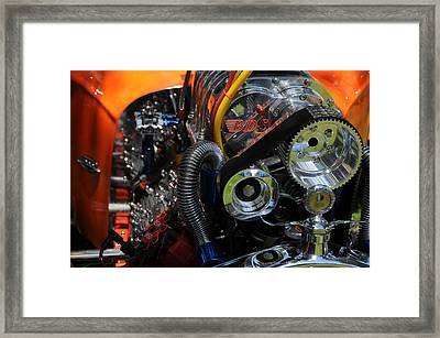 Under The Hood Framed Print by Mike Martin