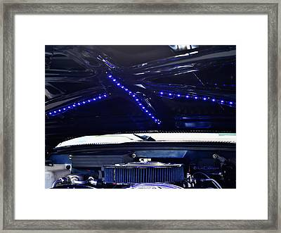 Under The Hood Of 88 Gmc Pickup Framed Print