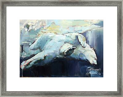 Under The Ice Framed Print by Mark Adlington