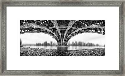 Under The Iron Bridge Framed Print by Em-photographies