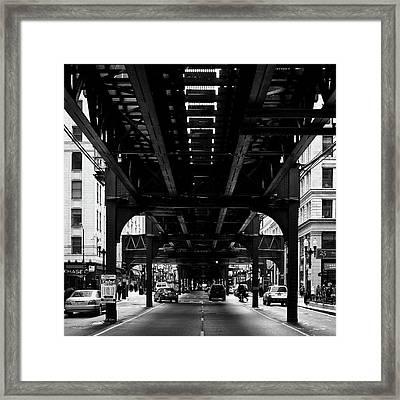 Under The L Framed Print