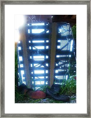 Under The L II Framed Print by Anna Villarreal Garbis