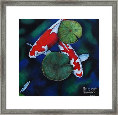 Under The Lily Framed Print by Tracey Hunnewell