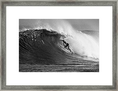 Under The Lip In Black And White Framed Print