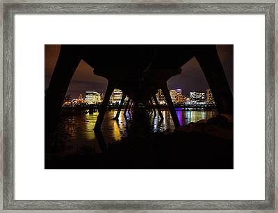 Under The Manchester Bridge Framed Print
