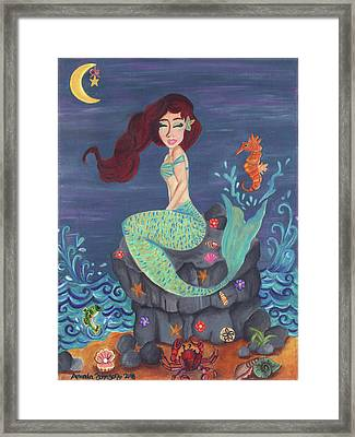 Under The Merlight Sea Framed Print