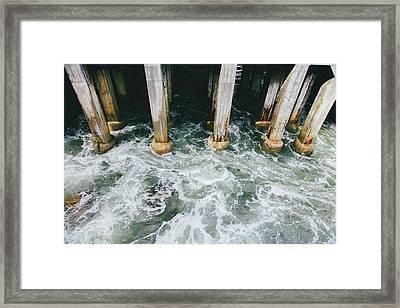Under The Monterey Pier Framed Print by Ariane Moshayedi