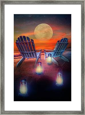 Framed Print featuring the photograph Under The Moon by Debra and Dave Vanderlaan