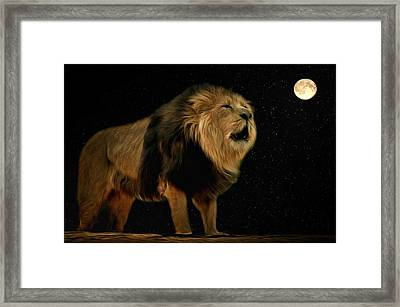 Under The Moon Framed Print by Scott Carruthers