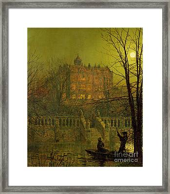 Under The Moonbeams, 1882 Framed Print